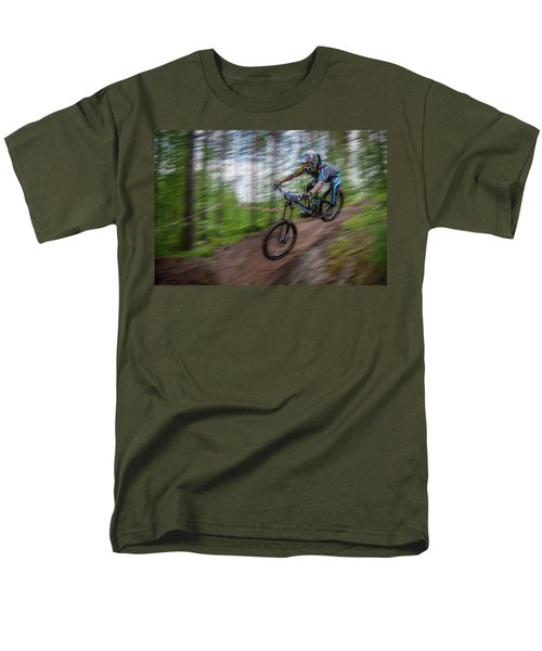 Downhill Race Men's T-Shirt  (Regular Fit) by Ari Salmela