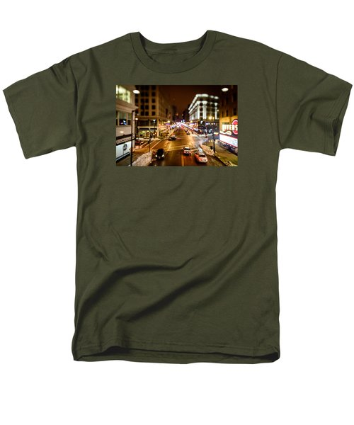Downtown In The Itty-bitty City Men's T-Shirt  (Regular Fit) by Randy Scherkenbach