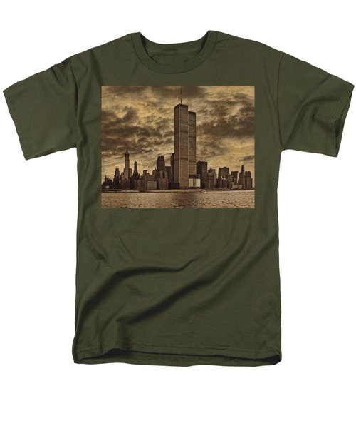 Downtown Manhattan Circa Nineteen Seventy Nine  Men's T-Shirt  (Regular Fit) by Chris Lord