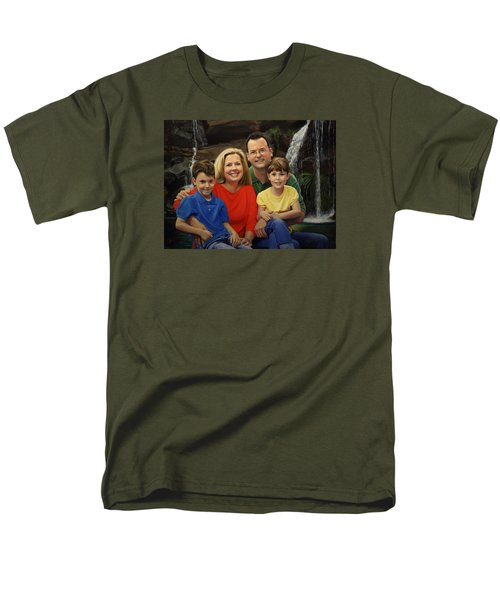 Men's T-Shirt  (Regular Fit) featuring the painting Dr. Devon Ballard And Family by Glenn Beasley
