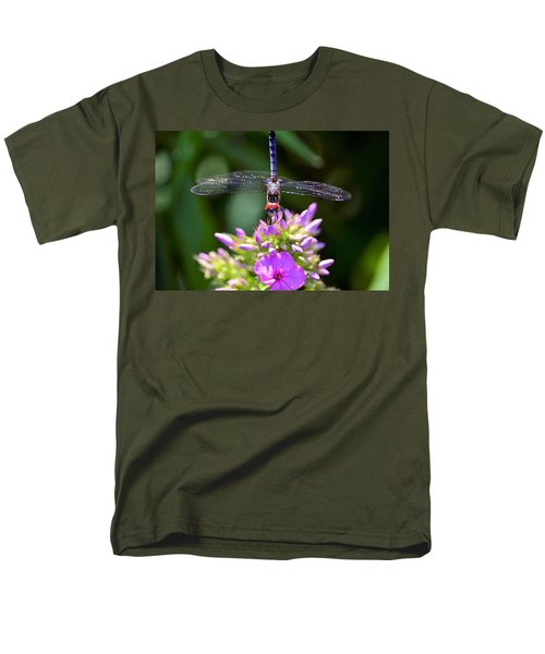 Dragonfly And Phlox Men's T-Shirt  (Regular Fit) by Kathy Eickenberg