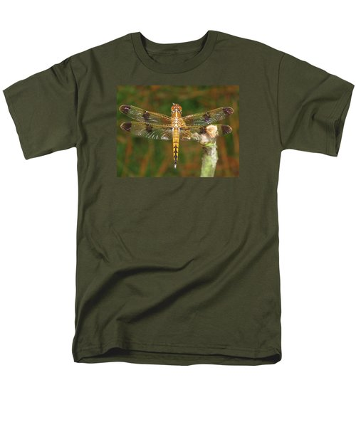 Painted Skimmer Dragonfly Men's T-Shirt  (Regular Fit) by Phyllis Beiser