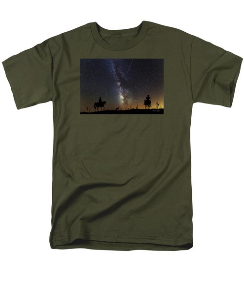 Men's T-Shirt  (Regular Fit) featuring the photograph Dream Ride At Magic Time by Karen Slagle