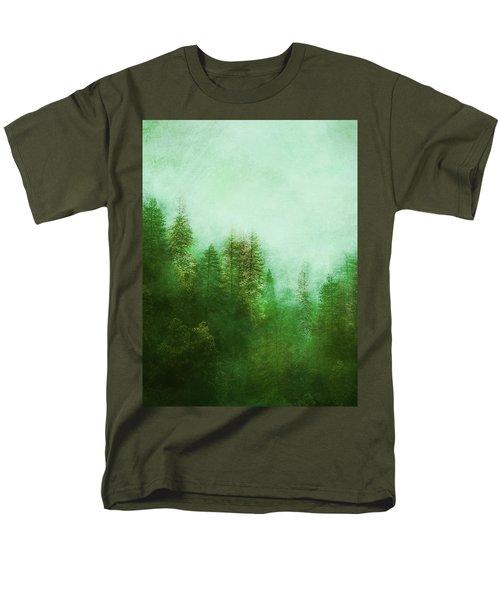 Men's T-Shirt  (Regular Fit) featuring the digital art Dreamy Spring Forest by Klara Acel