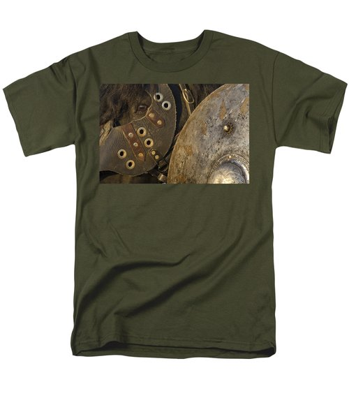 Men's T-Shirt  (Regular Fit) featuring the photograph Dressed For Battle D6722 by Wes and Dotty Weber