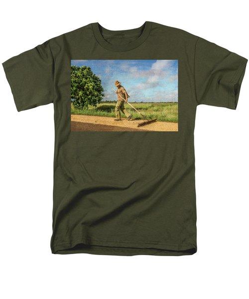 Drying Rice Men's T-Shirt  (Regular Fit)