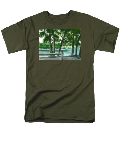 Men's T-Shirt  (Regular Fit) featuring the painting Dubois Park Lagoon by Jean Pacheco Ravinski