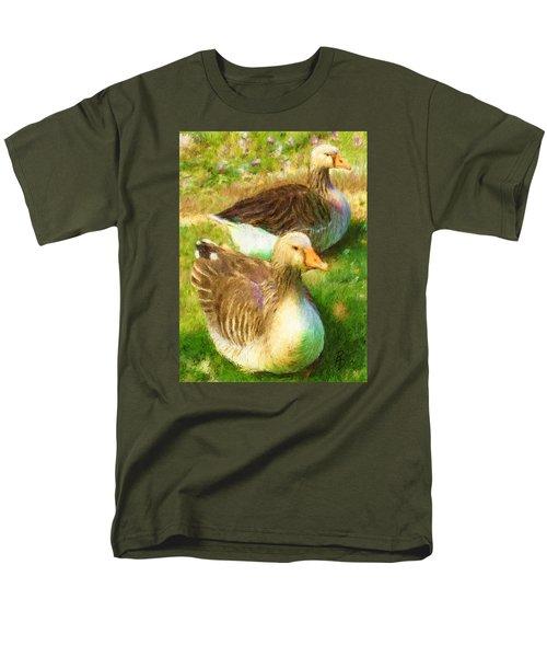 Gandering Geese Men's T-Shirt  (Regular Fit) by Ric Darrell