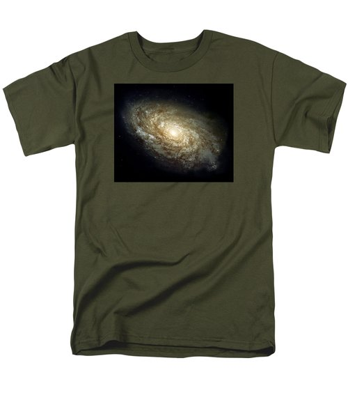 Dusty Spiral Galaxy  Men's T-Shirt  (Regular Fit) by Hubble Space Telescope