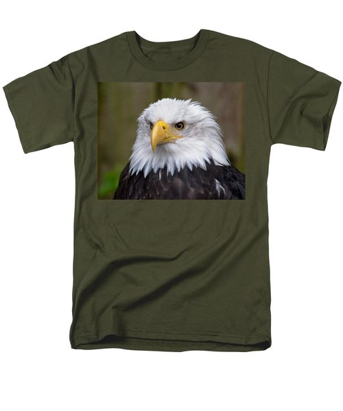 Eagle In Ketchikan Alaska Men's T-Shirt  (Regular Fit) by Michael Bessler