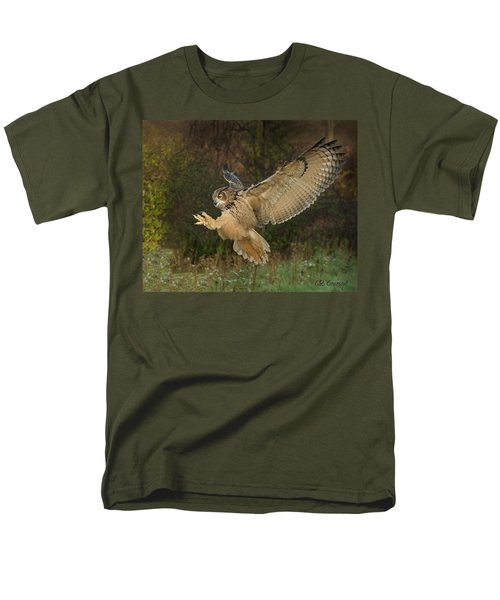 Eagle-owl Wings Back Men's T-Shirt  (Regular Fit) by CR Courson