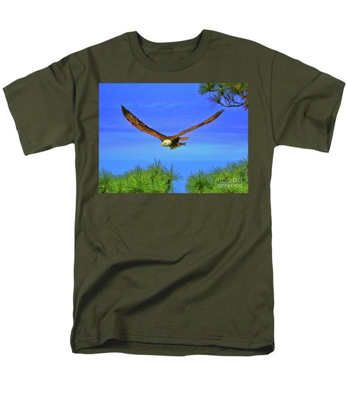 Men's T-Shirt  (Regular Fit) featuring the photograph Eagle Series Through The Trees by Deborah Benoit
