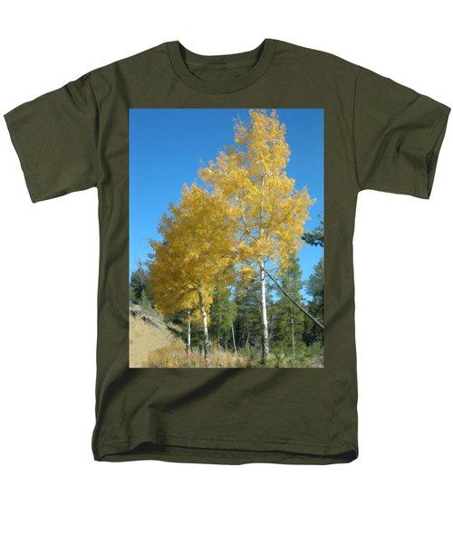 Men's T-Shirt  (Regular Fit) featuring the photograph Early Autumn Aspens by Gary Baird
