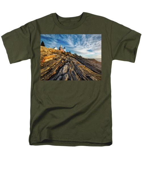 Men's T-Shirt  (Regular Fit) featuring the photograph Early Morning At Pemaquid Point by Darren White