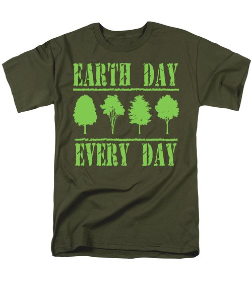Earth Day Every Day Men's T-Shirt  (Regular Fit) by David G Paul