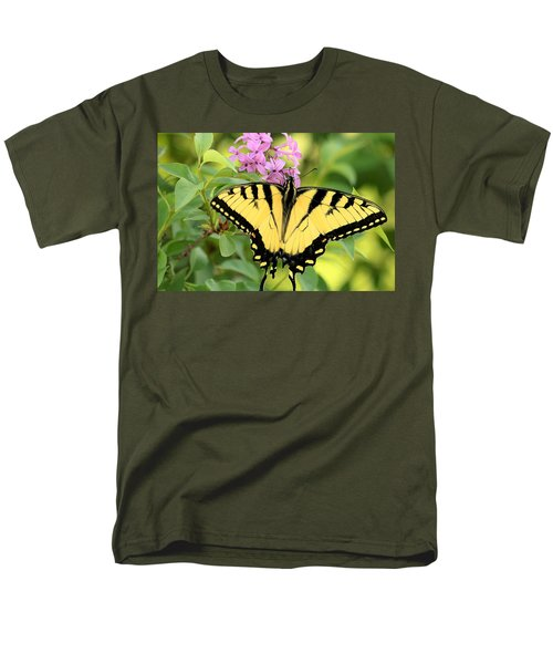 Eastern Tiger Swallowtail Butterfly Men's T-Shirt  (Regular Fit) by Sheila Brown