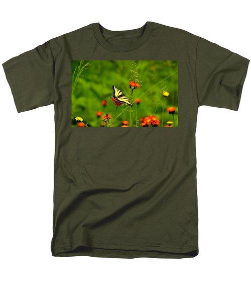 Eastern Tiger Swallowtail  Men's T-Shirt  (Regular Fit) by Debbie Oppermann