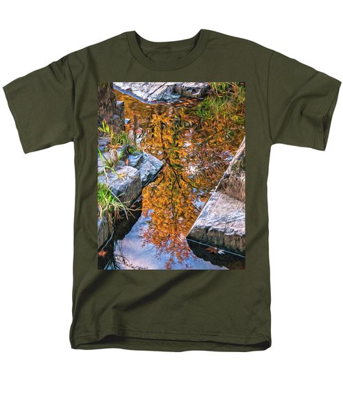Men's T-Shirt  (Regular Fit) featuring the photograph Eau Claire Dells Fall Reflection by Trey Foerster