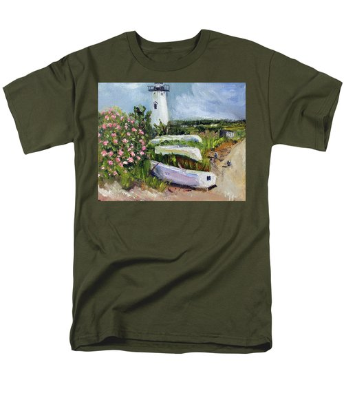 Edgartown Light And Her Entourage Men's T-Shirt  (Regular Fit) by Michael Helfen