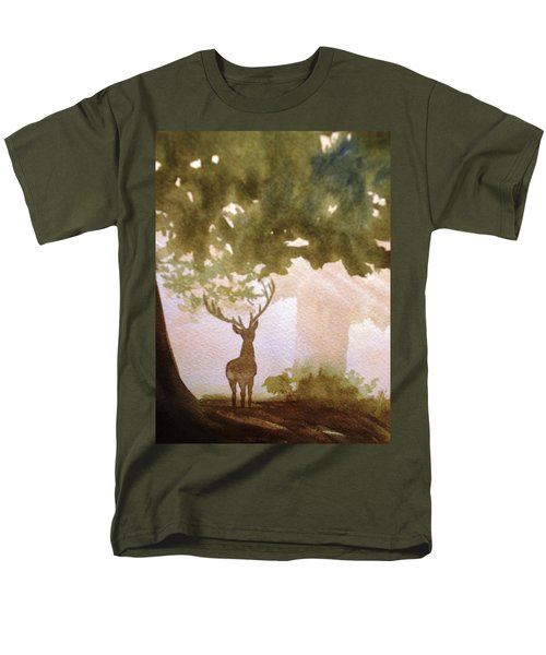 Edge Of The Forrest Men's T-Shirt  (Regular Fit) by Marilyn Jacobson