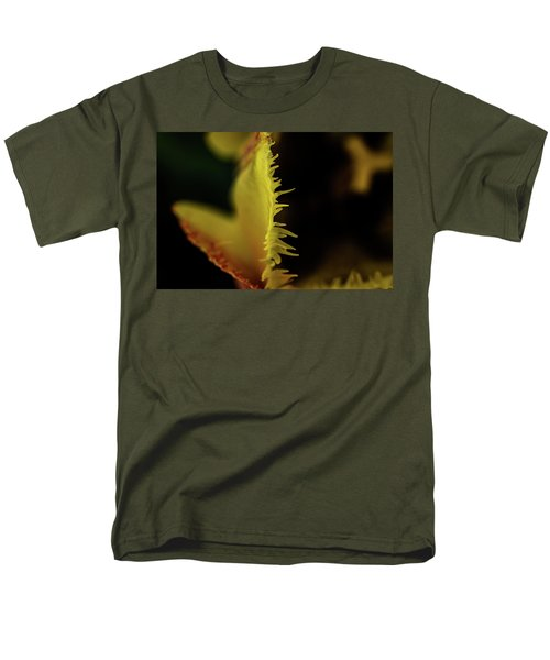 Men's T-Shirt  (Regular Fit) featuring the photograph Edge Of The Tulip by Jay Stockhaus