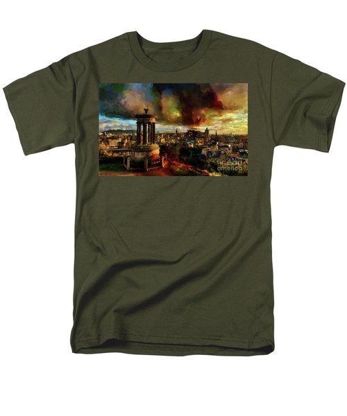 Edinburgh Scotland 01 Men's T-Shirt  (Regular Fit) by Gull G