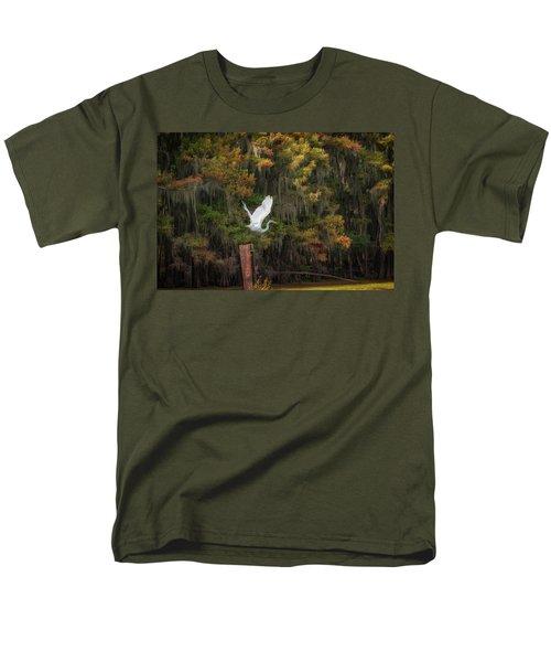 Egret Sanctuary Men's T-Shirt  (Regular Fit)