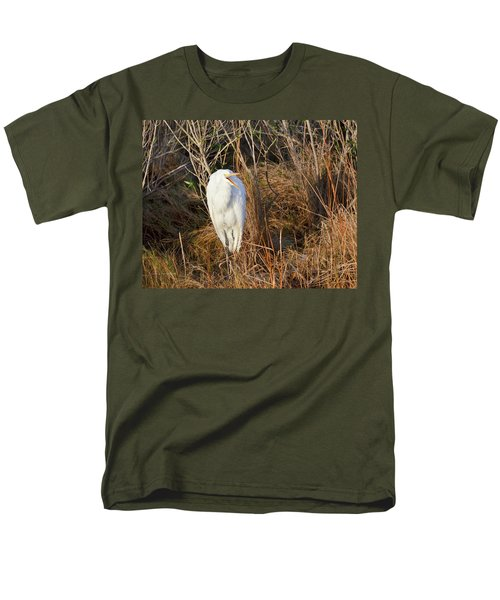 Men's T-Shirt  (Regular Fit) featuring the photograph Egret With Something To Say by George Randy Bass