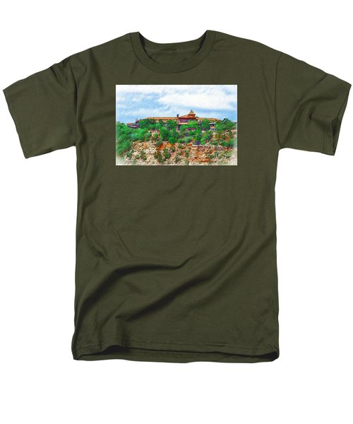 Men's T-Shirt  (Regular Fit) featuring the digital art El Tovar At The Grand Canyon by Kirt Tisdale