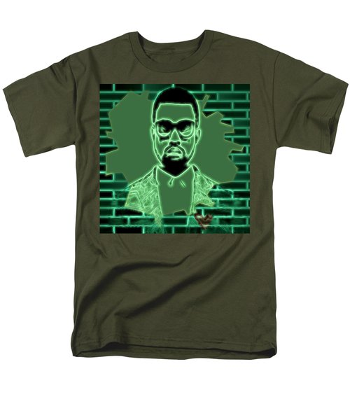 Electric Kanye West Graphic Men's T-Shirt  (Regular Fit) by Dan Sproul