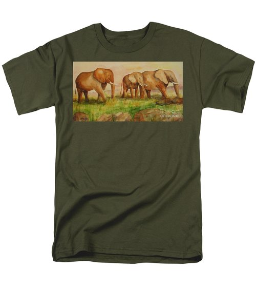 Elephant Parade Men's T-Shirt  (Regular Fit) by Vicki  Housel