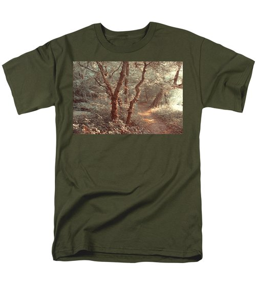 Men's T-Shirt  (Regular Fit) featuring the photograph Elvish Forest. Nature In Alien Skin by Jenny Rainbow