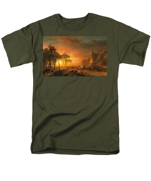 Men's T-Shirt  (Regular Fit) featuring the photograph Emigrants Crossing The Plains - 1867 by Albert Bierstadt