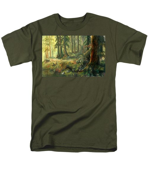 Enchanted Rain Forest Men's T-Shirt  (Regular Fit) by Sherry Shipley