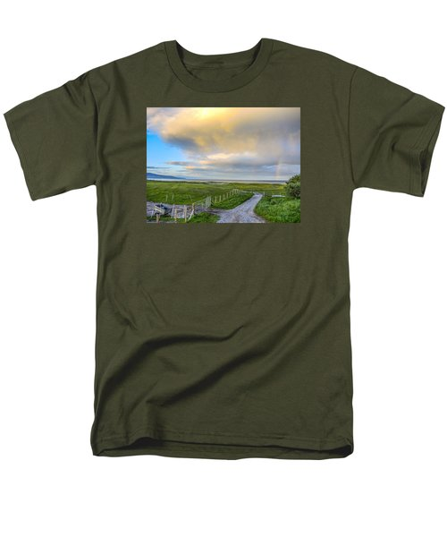 Men's T-Shirt  (Regular Fit) featuring the photograph End Of The Road, Brora, Scotland by Sally Ross