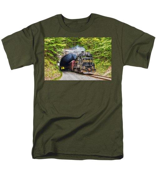 Engine 501 Coming Through The Brush Tunnel Men's T-Shirt  (Regular Fit)