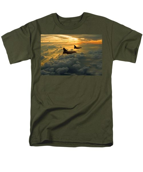 English Electric Lightning Sunset Flight Men's T-Shirt  (Regular Fit) by Ken Brannen