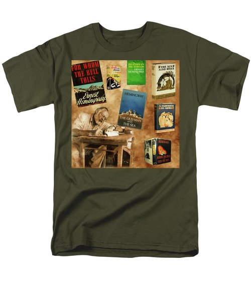 Ernest Hemingway Books 2 Men's T-Shirt  (Regular Fit) by Andrew Fare