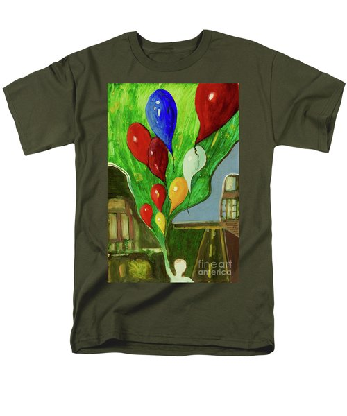 Men's T-Shirt  (Regular Fit) featuring the painting Escape by Paul McKey