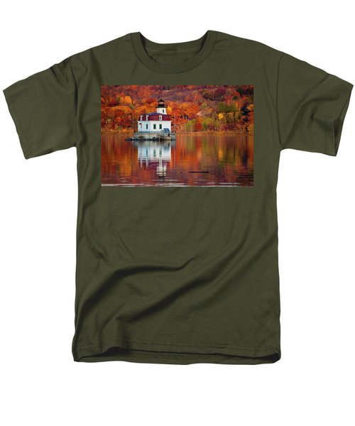 Men's T-Shirt  (Regular Fit) featuring the photograph Esopus Lighthouse In Late Fall #2 by Jeff Severson