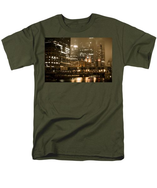 Evening In The Windy City Men's T-Shirt  (Regular Fit) by Miguel Winterpacht