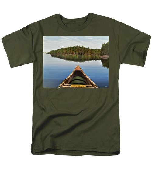 Evening Paddle  Men's T-Shirt  (Regular Fit) by Kenneth M  Kirsch
