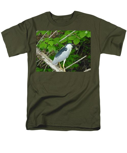 Men's T-Shirt  (Regular Fit) featuring the photograph Evening Snack For A Night Heron by Donald C Morgan