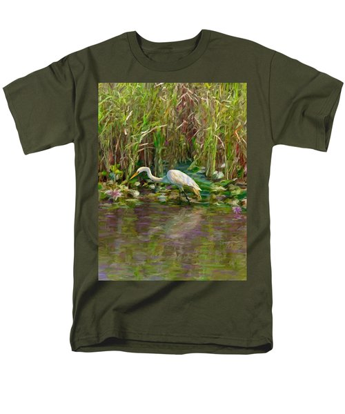 Men's T-Shirt  (Regular Fit) featuring the painting Everglades Hunter by David  Van Hulst
