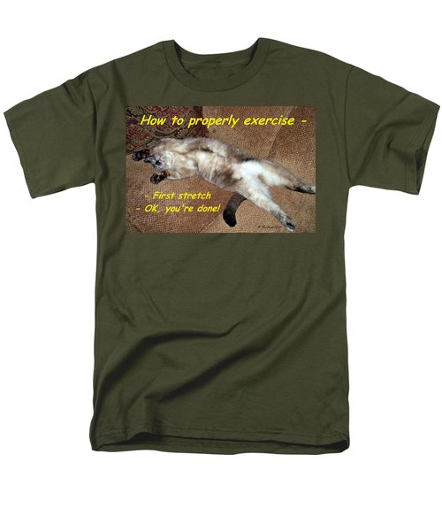 Men's T-Shirt  (Regular Fit) featuring the photograph Exercise 101 by Betty Northcutt