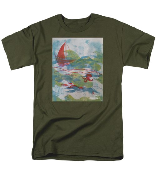 Fair Winds Calm Seas Men's T-Shirt  (Regular Fit) by Cynthia Lagoudakis