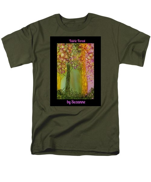 Men's T-Shirt  (Regular Fit) featuring the painting Fairie Forest by Suzanne Canner
