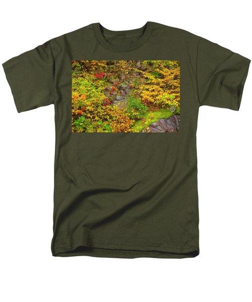 Fall Color Patchwork Men's T-Shirt  (Regular Fit) by David Cote
