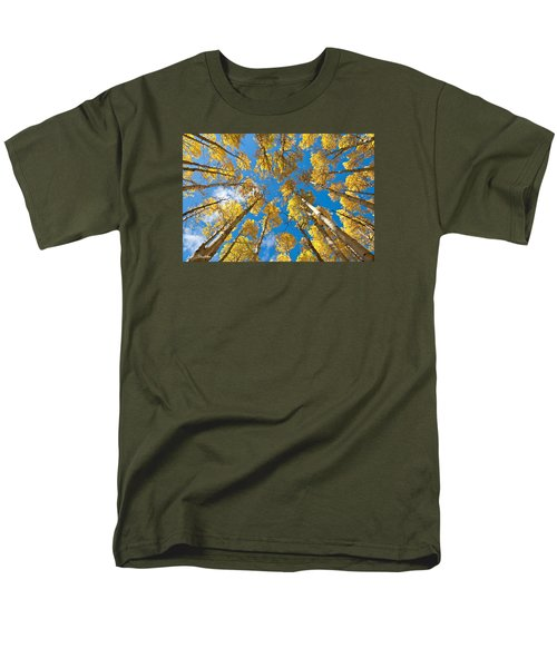 Fall Colored Aspens In The Inner Basin Men's T-Shirt  (Regular Fit) by Jeff Goulden