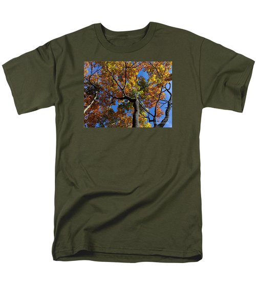Men's T-Shirt  (Regular Fit) featuring the photograph Fall Colorful Trees by Haleh Mahbod
